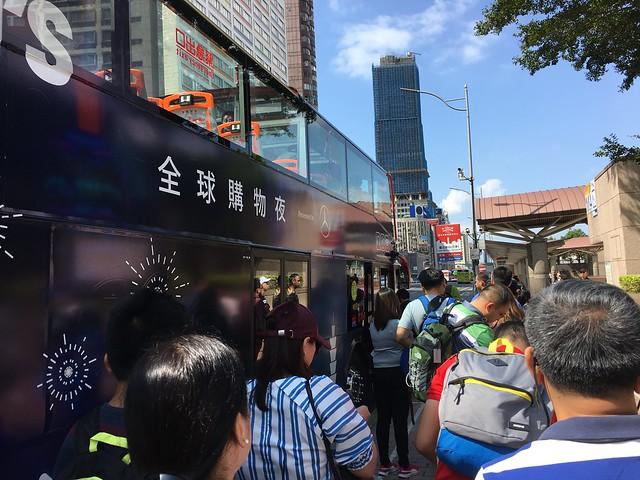 11:00的雙層觀光巴士藍線,人好多!