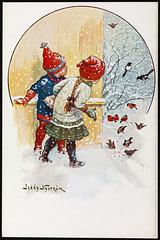 Nr. 3 Julemotiv tegnet av Jenny Nystrøm