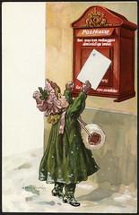 Serie 594. Julemotiv tegnet av Jenny Nystrøm