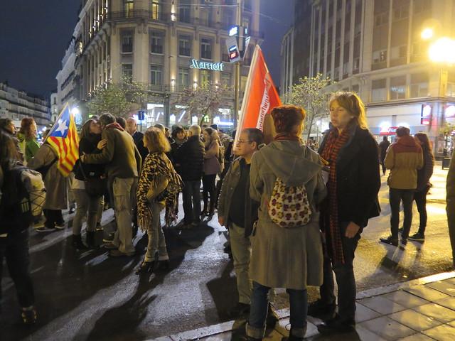 Solidariteit met de beweging in Catalonië: actie in Brussel // Mario