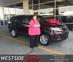 #HappyBirthday to Sandra  from Damon Clayton at Westside Kia!