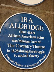 Photo of Ira Aldridge blue plaque