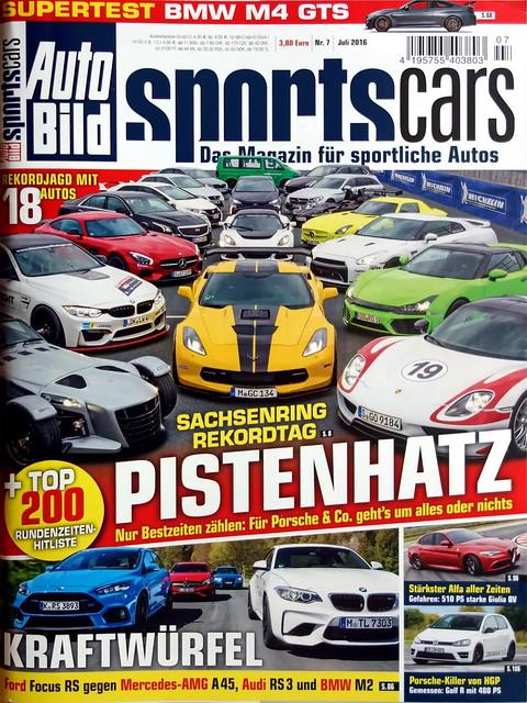 Auto Bild Sportscars 7/2016