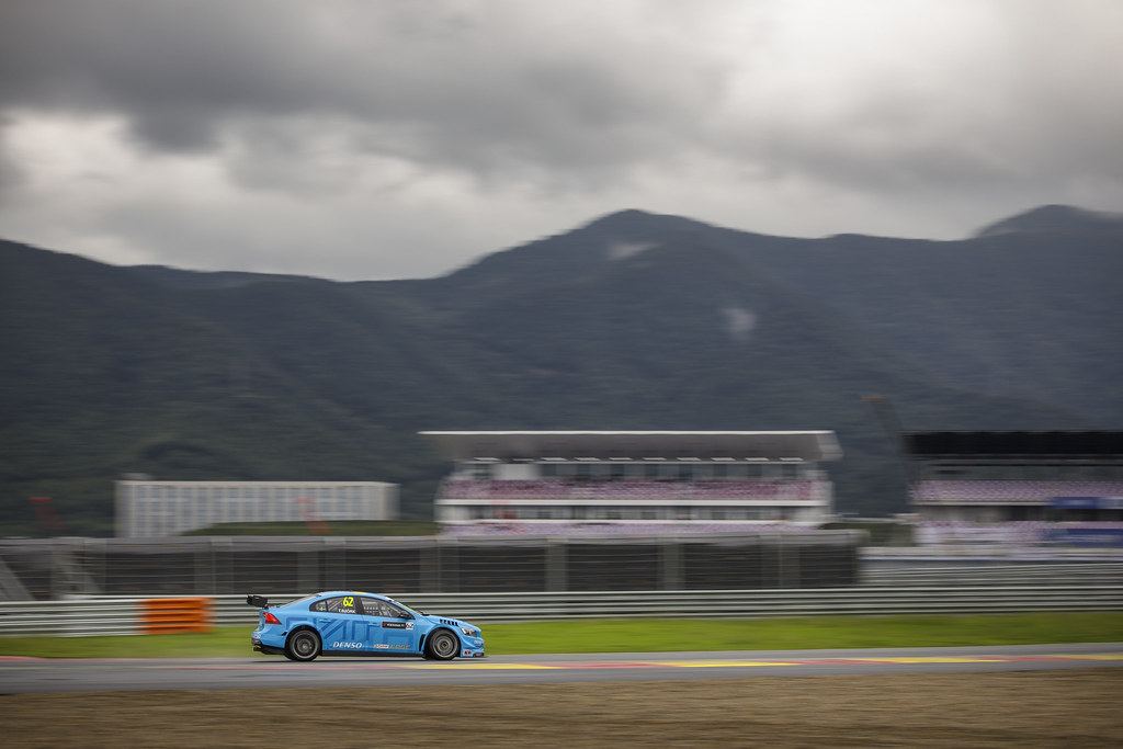 62 BJORK Thed (swe) Volvo S60 Polestar team Polestar Cyan Racing action   during the 2017 FIA WTCC World Touring Car Championship at Ningbo, China, October 13 to 15 - Photo Frederic Le Floc'h / DPPI