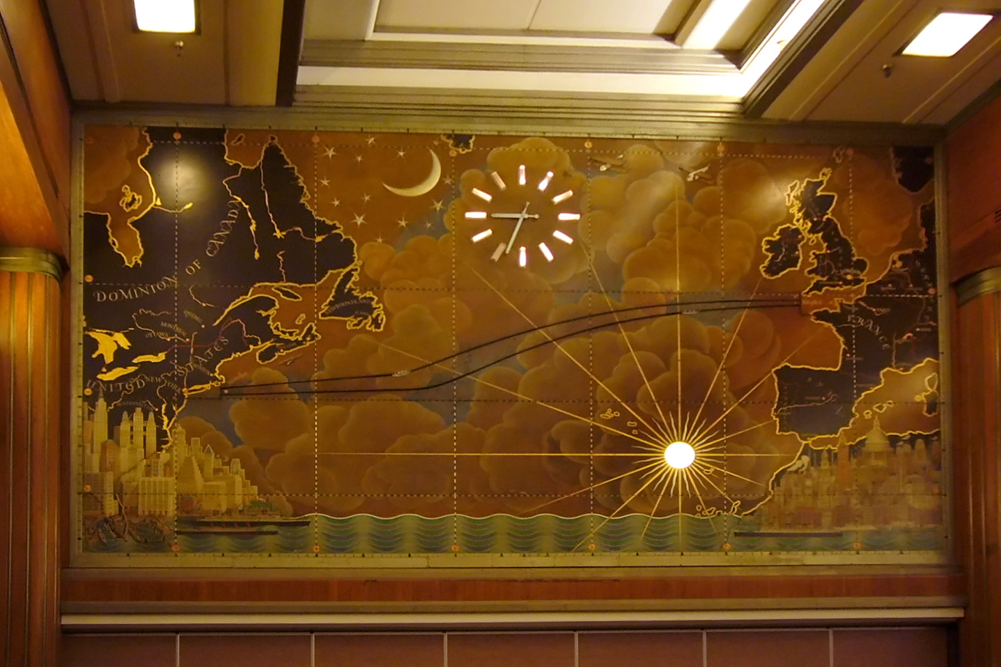 Mural in the main dining room, or