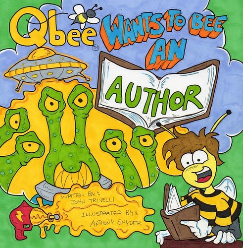 Qbee wants to be an author. Art by Anthony Snyder