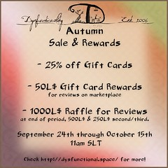 Autumn Review Promo & Gift Card Sale!