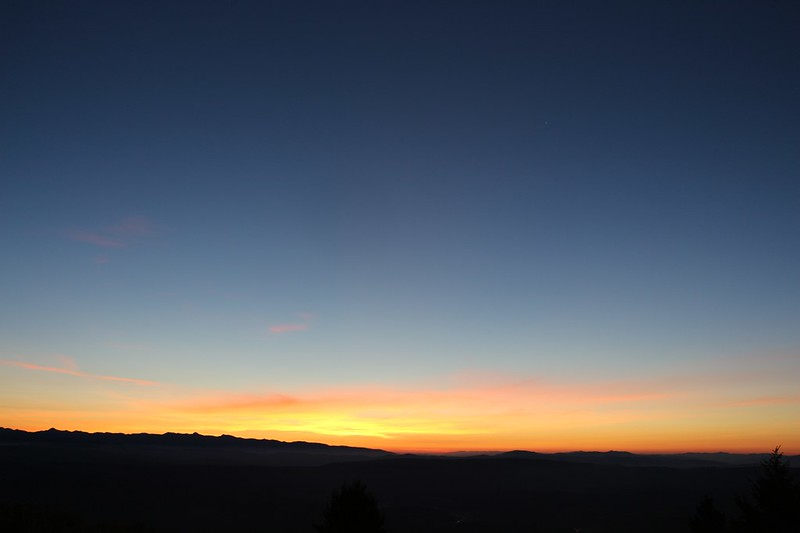 Our third sunrise on Dixie Butte - only a few more hours until the Solar Eclipse - Time to pack up!