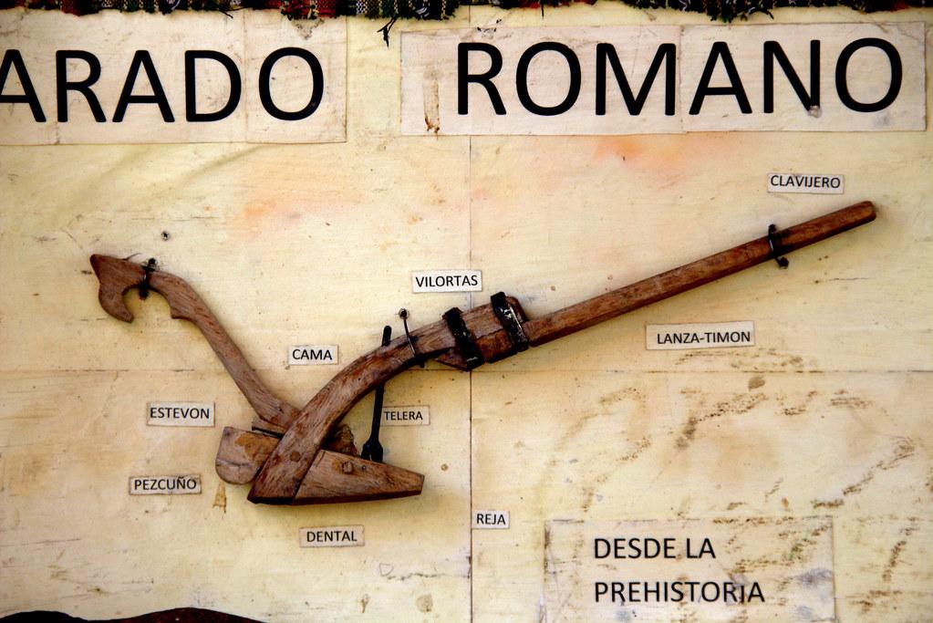 artes y partes de un arado romano