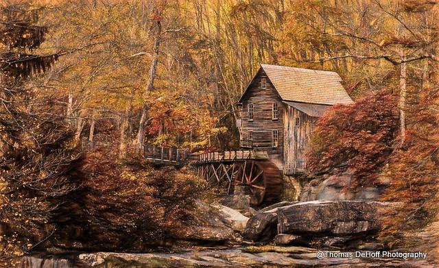 Glade Creek Grist Mill Impressionist