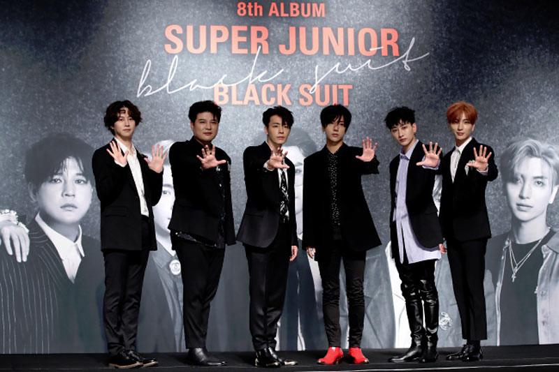 Super Junior dalam peluncuran album ke-8