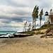 Pt. Betsie, MI lighthouse-heavy surf