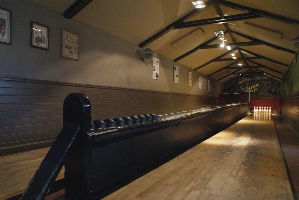 Le plus vieux jeux de quilles d'Ecosse du pub The Sheep Heid Inn à Edimbourg.