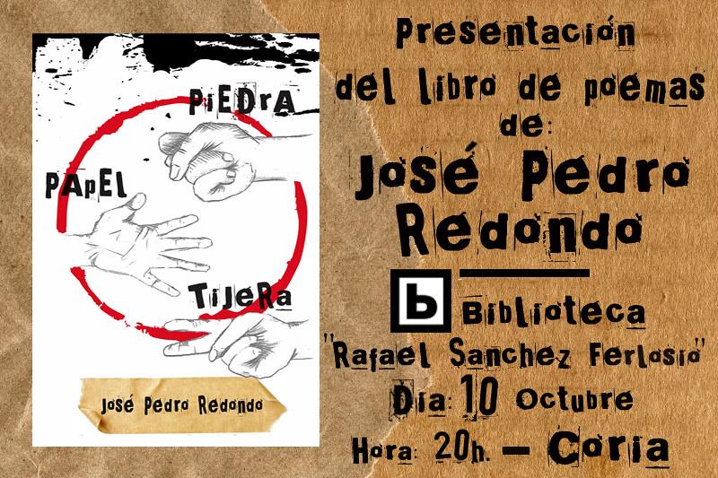 """Presentación del poemario """"Piedra, papel, tijera"""" de José Pedro Redondo"""