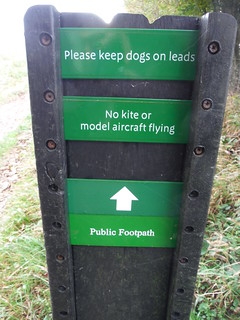 No Kite Flying! - Approach to Old Winchester Hill