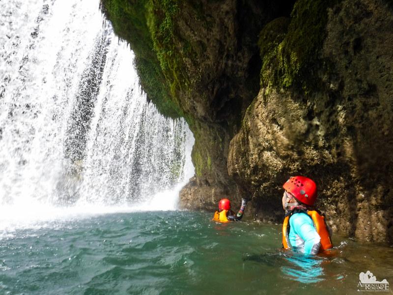 Under the Pinipisakan Falls