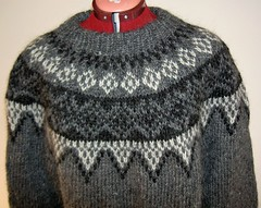 Mens grey icelandic wool Peysa