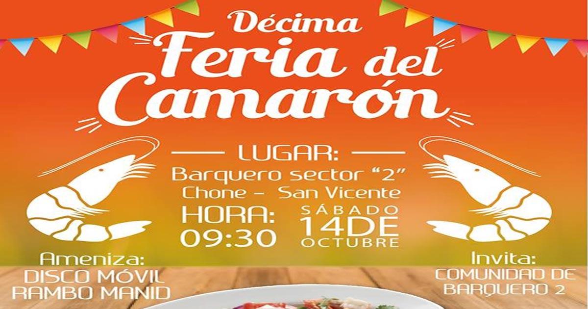 Alcaldía de Chone participa en festival del camarón