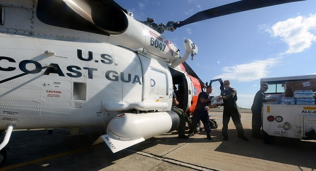 Coast Guard aircrew delivers aid to hospital in Mayaguez, Puerto Rico
