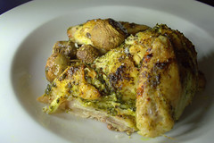 Garlic & Herb Spatchcock Chicken with Mushroom