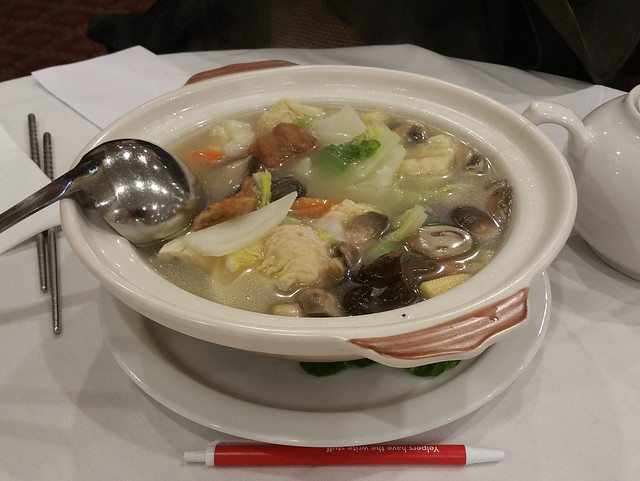 2017-10-21 Sun Bo Kong - B14 Assorted Vegetables and Wonton in Soup