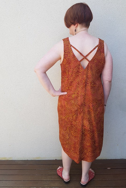 Cashmerette Webster dress in rayon batik from Bali