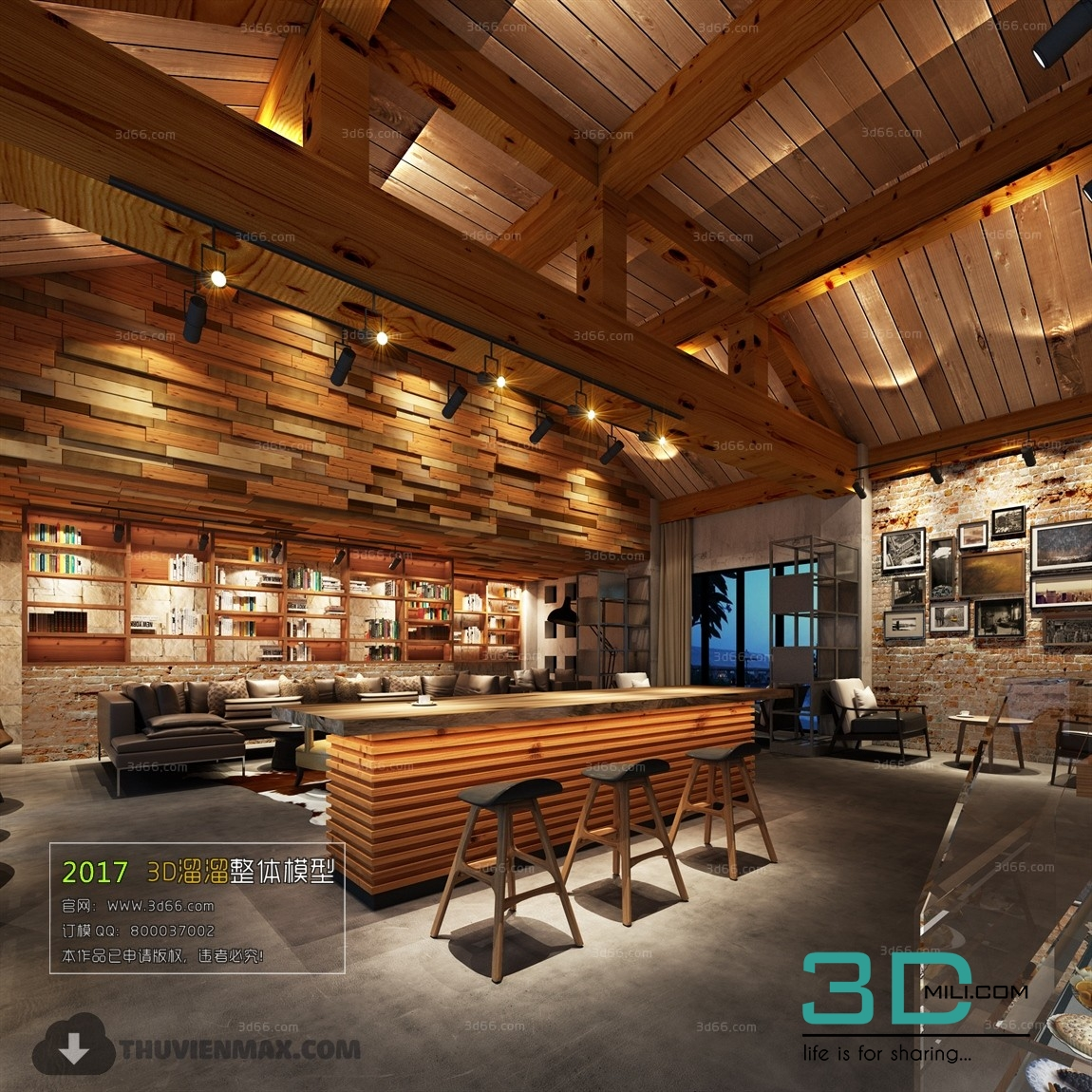 35 3d Cafe 3d Mili Download 3d Model Free 3d Models