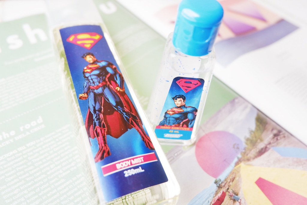 Tupperware Superman Body Mist and Hand Sanitizer