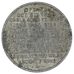 Table Mountain-Aerial Cableway Token reverse