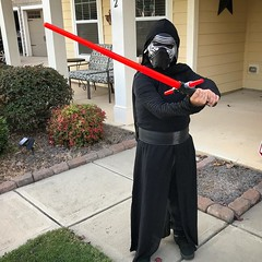 Trick-or-treating with Kylo Ren (Wes) tonight.