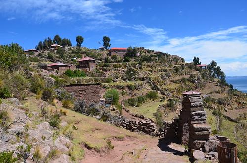 Blick auf Taquile und seine Terrassen