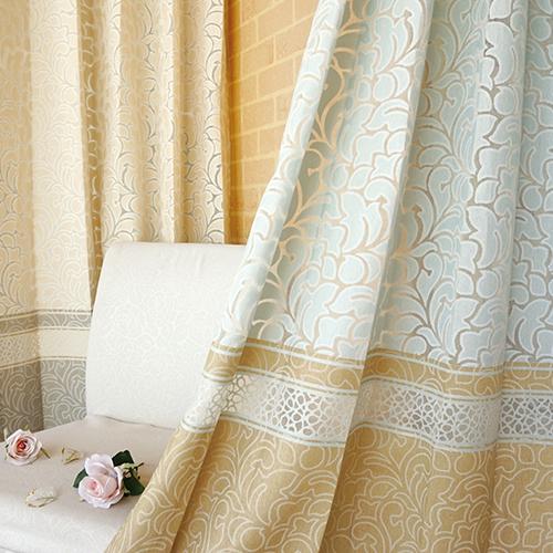 花季 歐式花卉 微鏤空 半遮光無接縫窗簾布 DA3490001