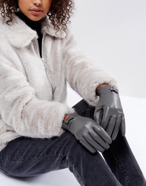 ASOS перчатки черные 2