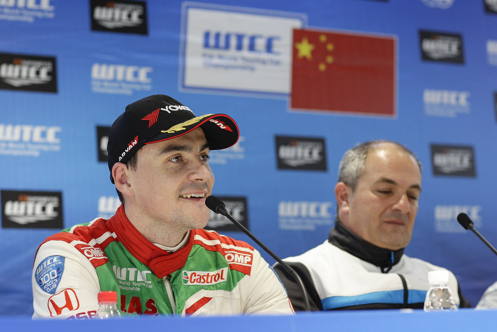 MICHELISZ Norbert (hun) Honda Civic team Castrol Honda WTC ambiance portrait pole position  conference de presse press conference   during the 2017 FIA WTCC World Touring Car Championship at Ningbo, China, October 13 to 15 - Photo Frederic Le Floc'h / DPPI