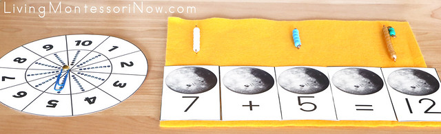 Moon Spinner and Bead Bar Addition Activity