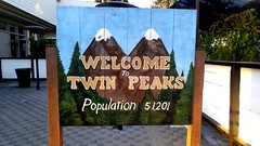 Welcome to Twin Peaks sign