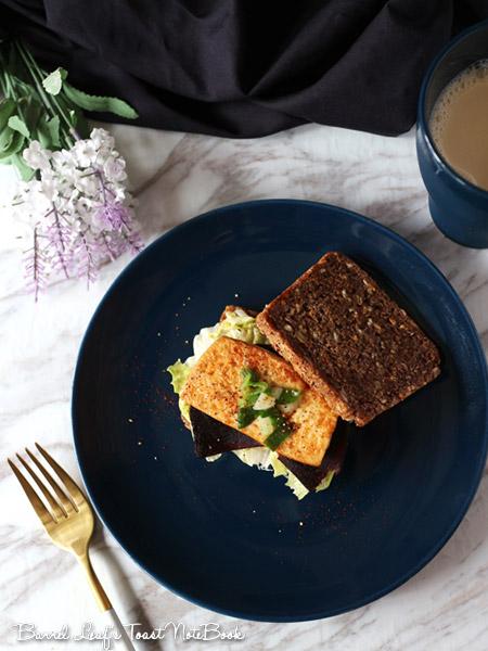 純素鍋煎豆腐三明治 Vegan Skillet Tofu Sandwich