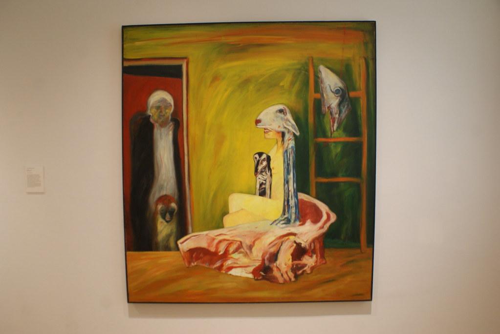 """Toile de John Bellany """"Lap dog"""" (1973) au musée d'art moderne d'Edimbourg."""