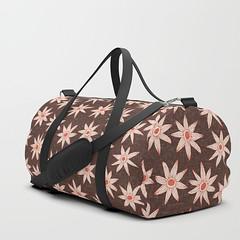 sema brown fire orange society6 duffle bag