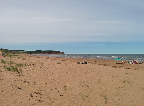 Looking west, North Rustico Beach #pei #princeedwardisland #northrustico #rustico #beach #gulfofstlawrence #latergram