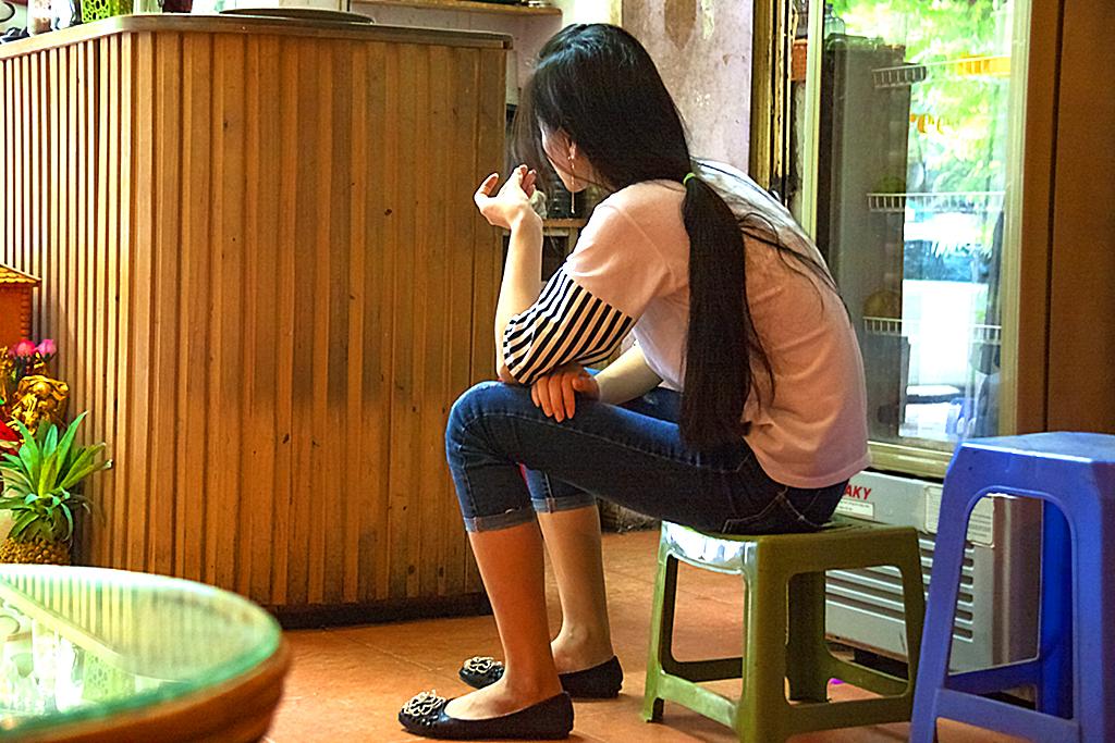 Cafe waitress--Hanoi