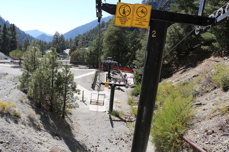 Arriving at the bottom of the Ski Lift below Mount Baldy Notch
