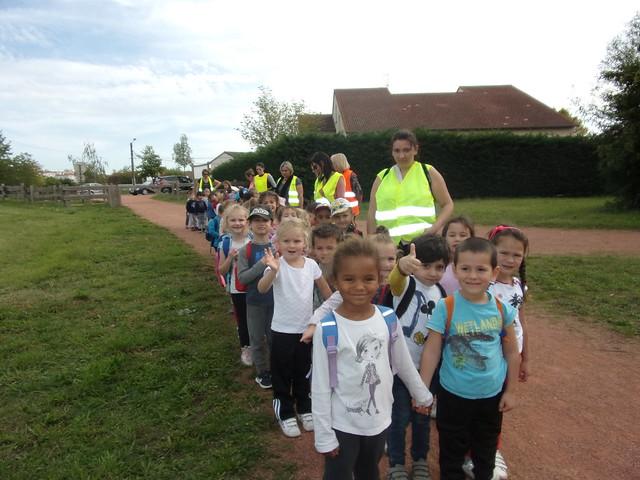 Les maternelles de l'école du Coteau ont parcouru 4,5 kilomètres