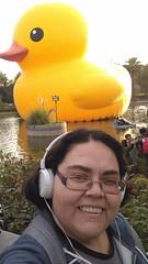 Obvio que fui a conocer el pato de hule gigante @hechoencasafest  #rubberduck #florentijnhofman #santiago #hechoencasafest #hechoencasafestentel #intervencionurbana #urbanart #streetart #quintanormal #arteurbano #park #accesorizateentel