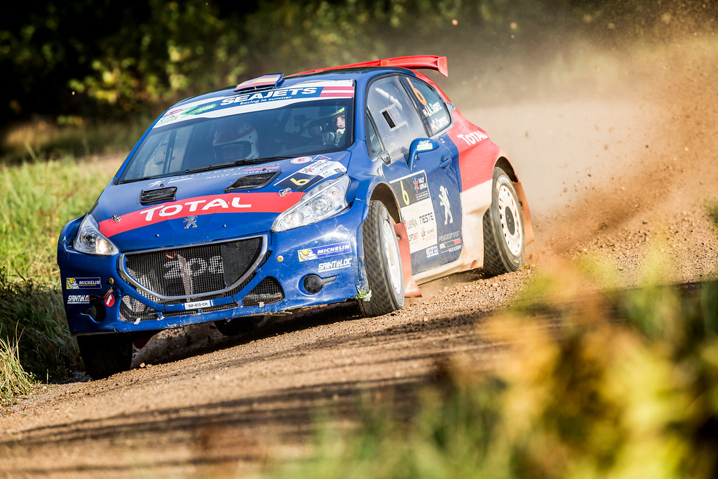 06 Suarez Jose Antonio and Carrera Candido, Peugeot Rally Academy, Peugeot 208 T16 ERC Junior U28 action during the 2017 European Rally Championship ERC Liepaja rally,  from october 6 to 8, at Liepaja, Lettonie - Photo Thomas Fenetre / DPPI