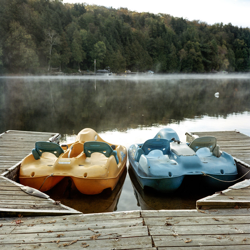 Sleeping Paddle Boats_