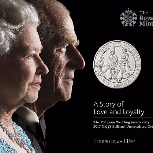 Queen and Prince Philip 70th Anniversary Royal Mint ad