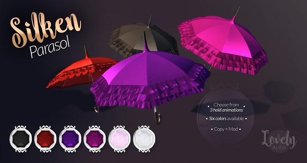 Silken Parasol For: Secret Hideout