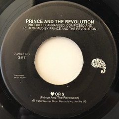 PRINCE AND THE REVOLUTION:KISS(LABEL SIDE-B)