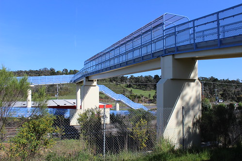 Wandong footbridge across railway tracks